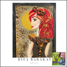 Load image into Gallery viewer, Steampunk Briar original art by Rita Barakat