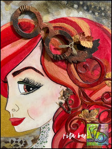Steampunk Briar original art by Rita Barakat