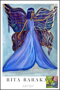 The Blue Fairy original oil painting by Rita Barakat