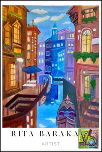 Venice original oil painting by Rita Barakat