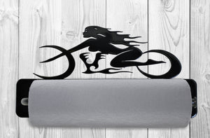 Girl Bike Motorcycle Paper Towel Holder
