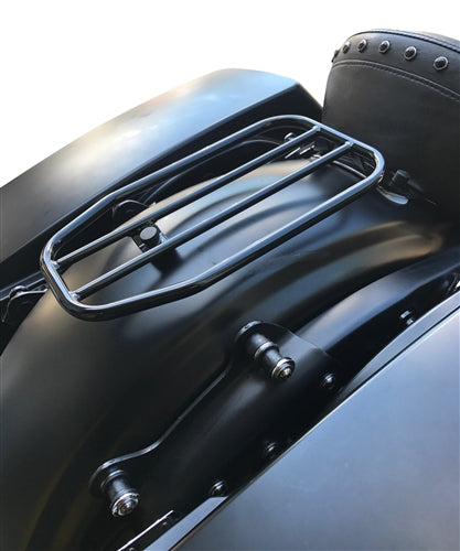 "7"" Flat Solo Luggage Rack for Touring Models 97-up (MWL-409)"