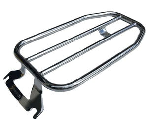 "Open image in slideshow, 7"" Flat Solo Luggage Rack for Touring Models 97-up (MWL-409)"