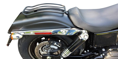 "7"" Solo Luggage Rack for H-D Dyna Glide, Wide Glide, Fat Bob Models 2006-2017, Switchback 2012-2016 (MWL-530)"