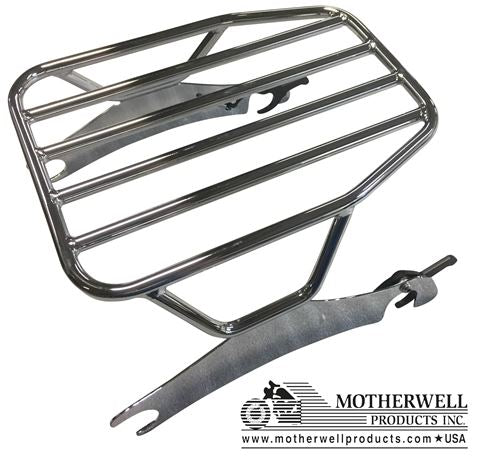 Flat Solo Detachable Luggage Rack for Indian Chieftain, Roadmaster, Springfield, Challenger Models 2014 & Up (MWL-630-FLAT)