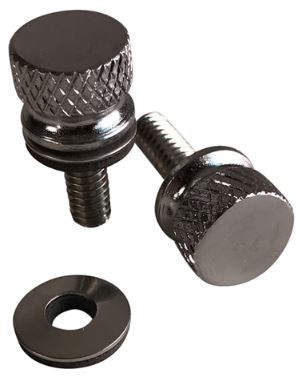 2x Grooved National Coarse Thumbscrew for H-D Motorcycles (PC-4011-2)