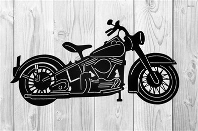 HD Classic Motorcycle Steel Sign