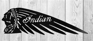 Indian Motorcycle Head Logo Steel-Metal Sign