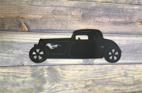 Hot Rod Car Metal-Steel Sign