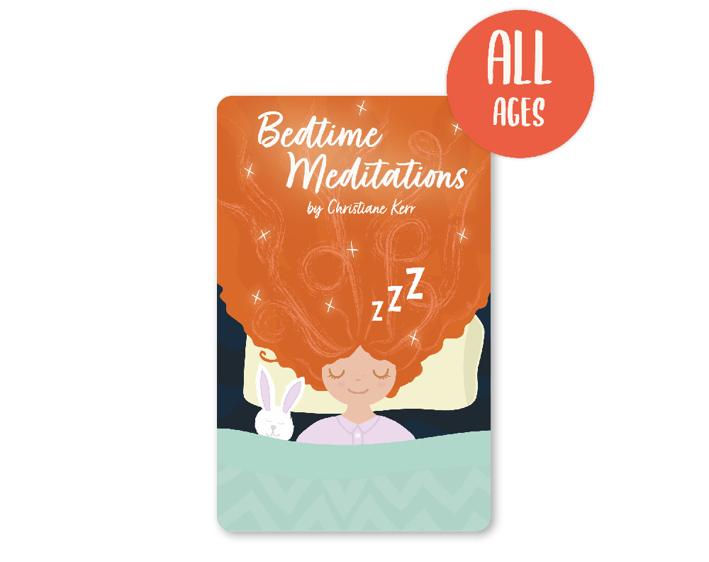 Card image: Bedtime Meditations by Christiane Kerr (suitable for all ages)