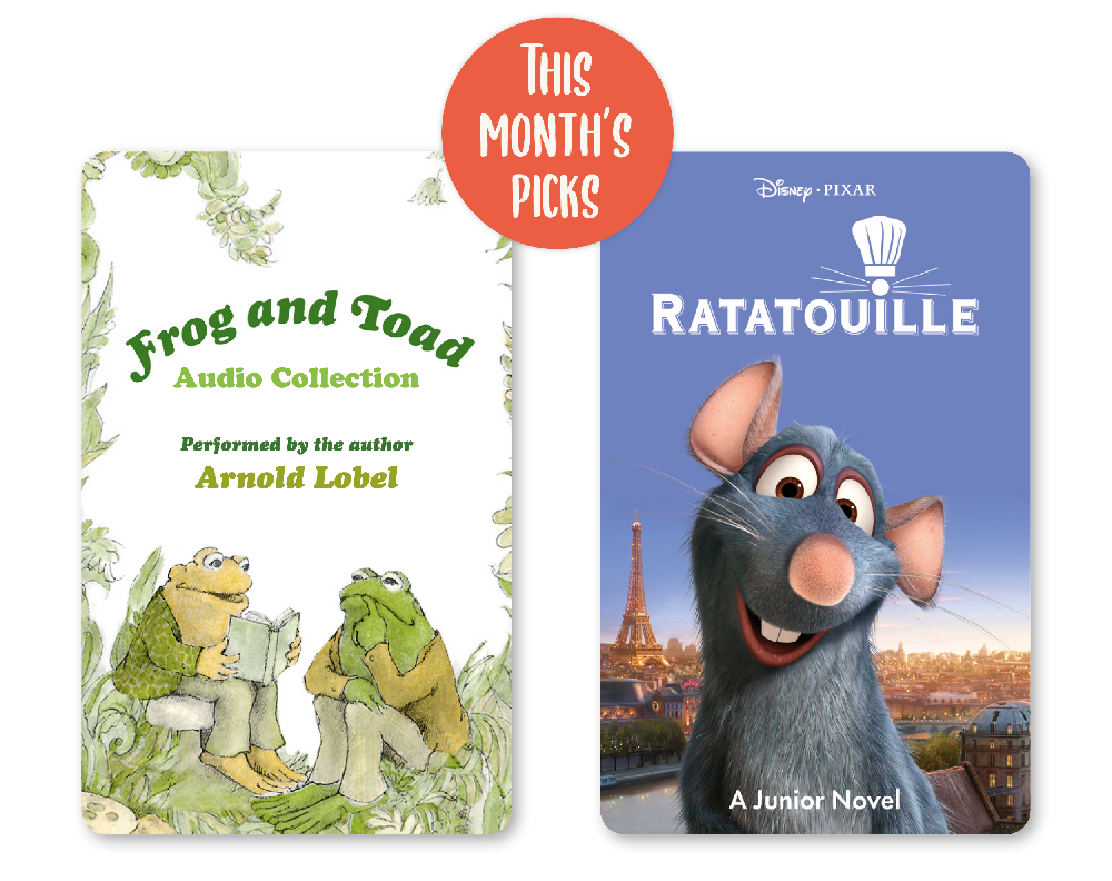 This months 2 club pick cards: Disney Pixar's Ratatouille and Frog and Toad by Arnold Lobel