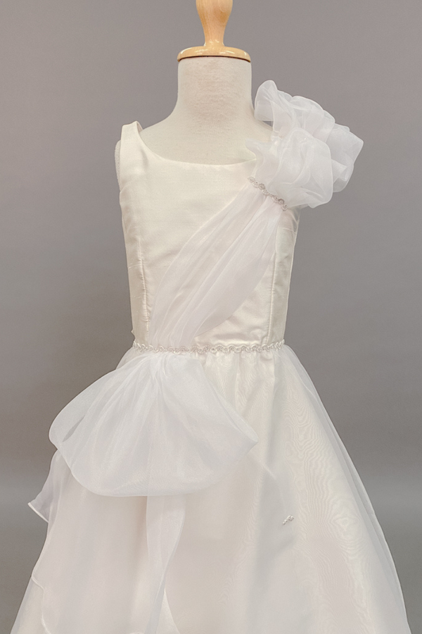 carmens designs silk and organza custom made dress for special occasions