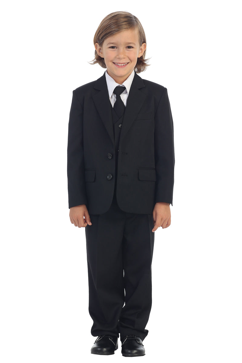 Boys 2-Button Suit in black from tip top kids