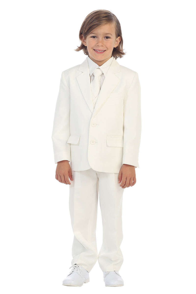 Boys 2-Button Suit in ivory available at carmens designs toronto
