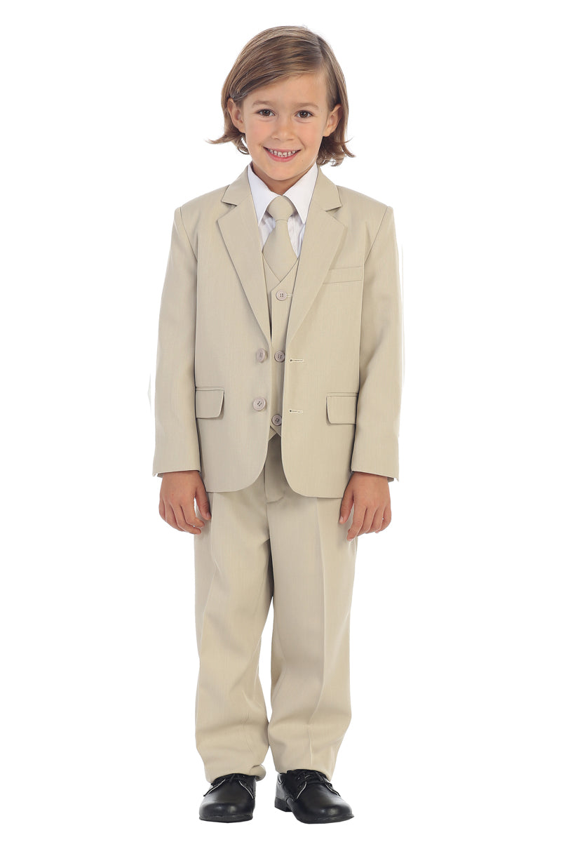 tip top kids Boys 2-Button Suit in khaki