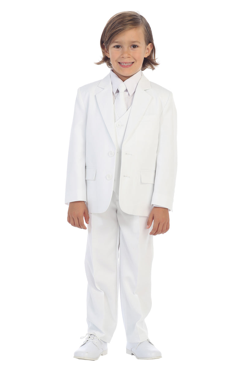 white Boys 2-Button Suit set for communion
