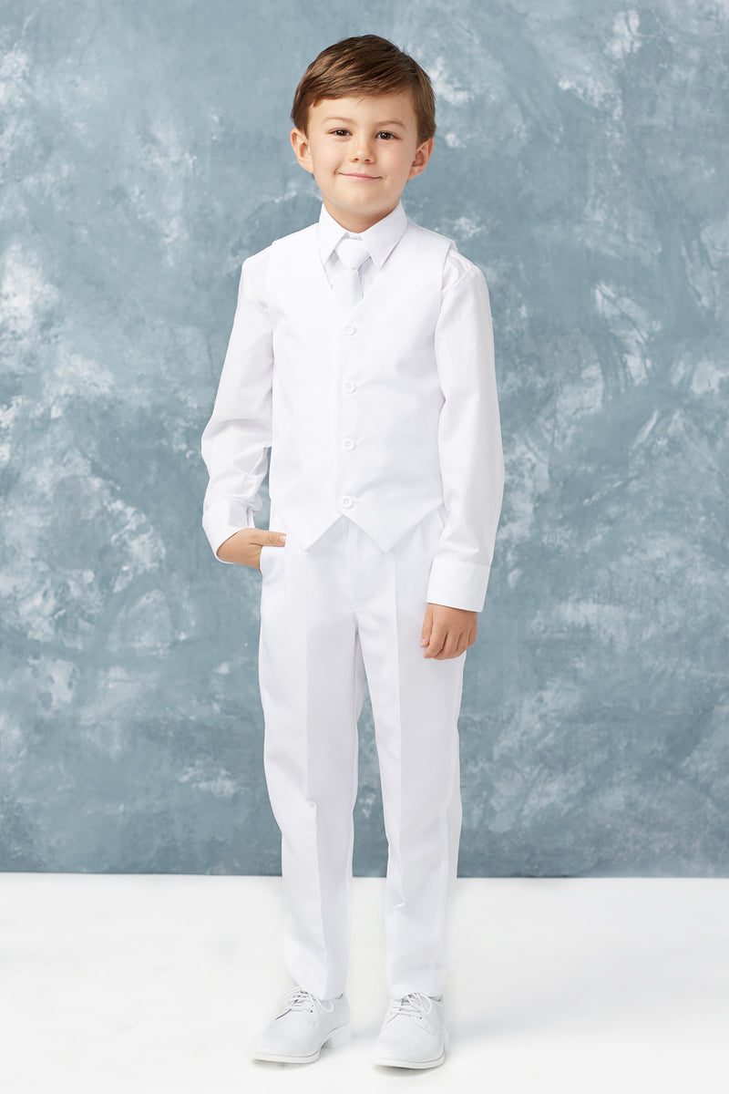 carmens designs white Boys Slim Fit 2 Button 5-Piece Suit ship to canada