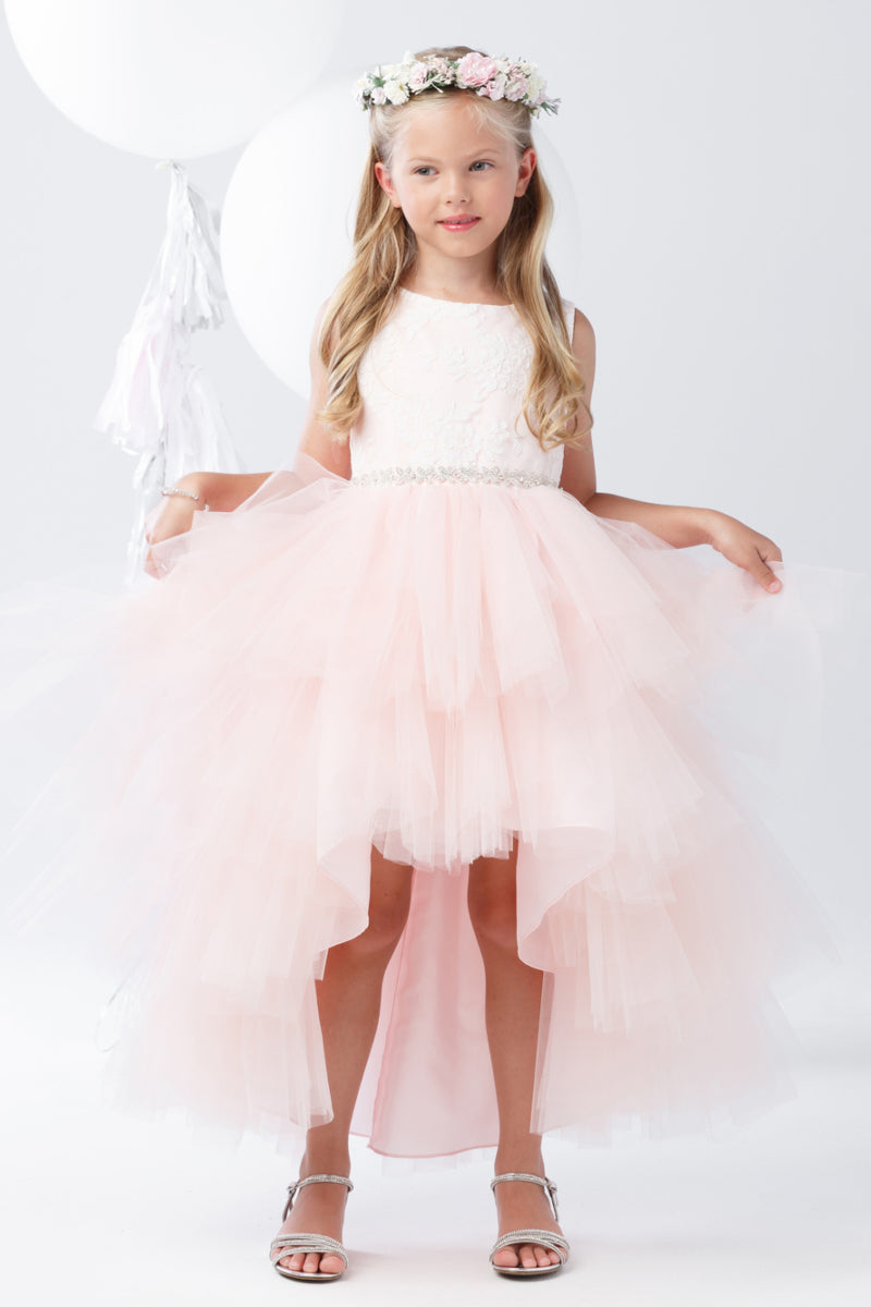 special occasion Tulle High-Low dress available at carmens designs toronto