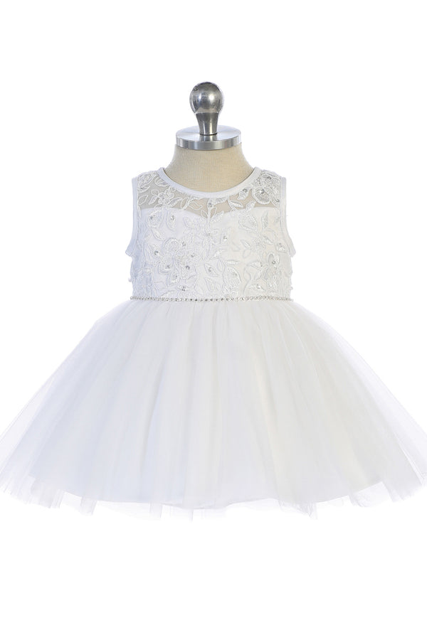white Illusion Neckline with Lace Applique Bodice from carmens designs toronto