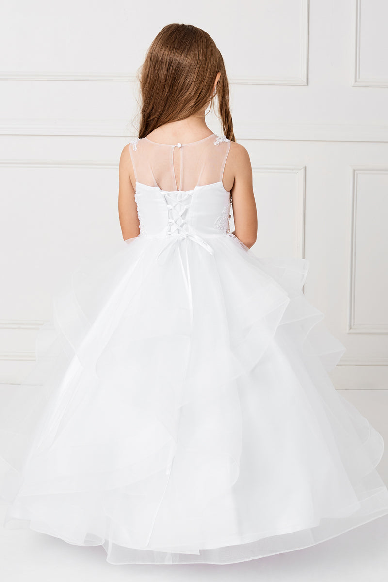 carmens designs white dress for first communion