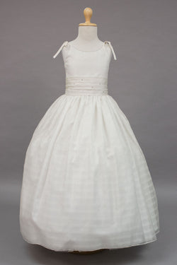 custom made Checked pattern organza dress for communion