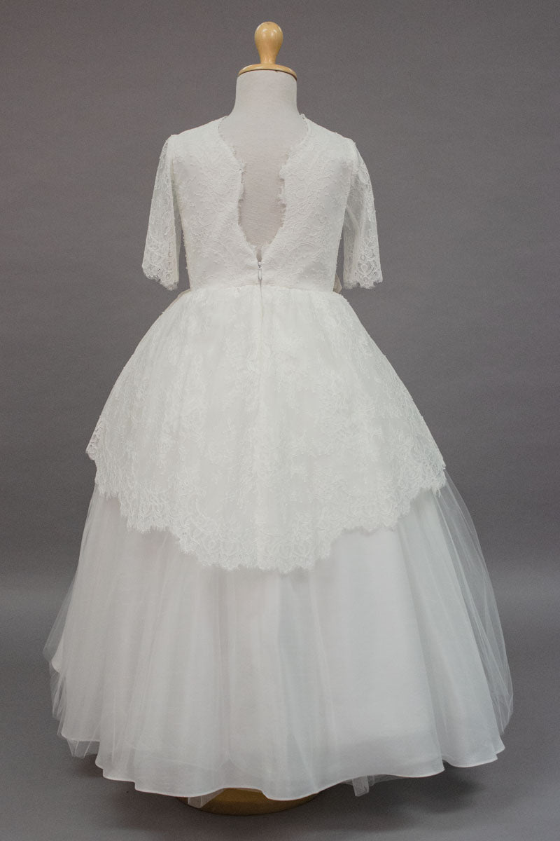 carmens designs custom made lace communion dress
