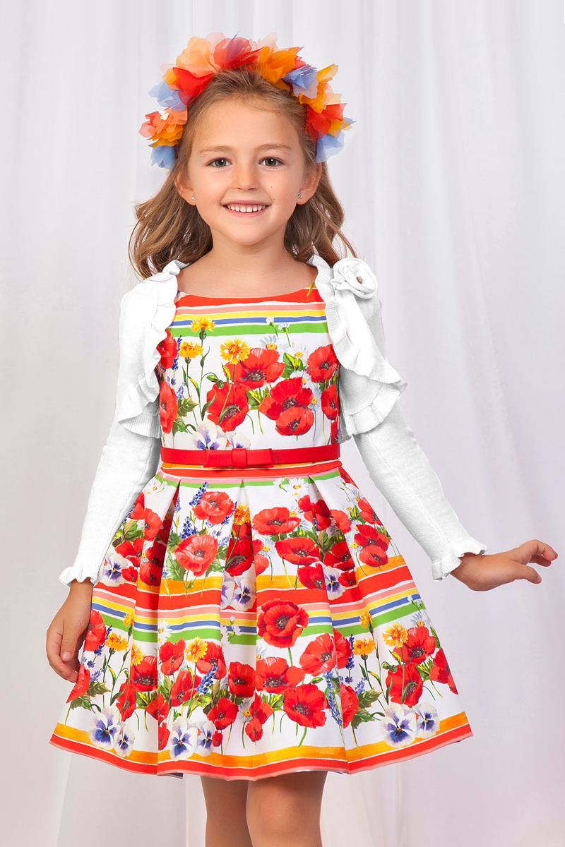 Ruffled Bolero Tricot Cardigan for kids available at carmens designs