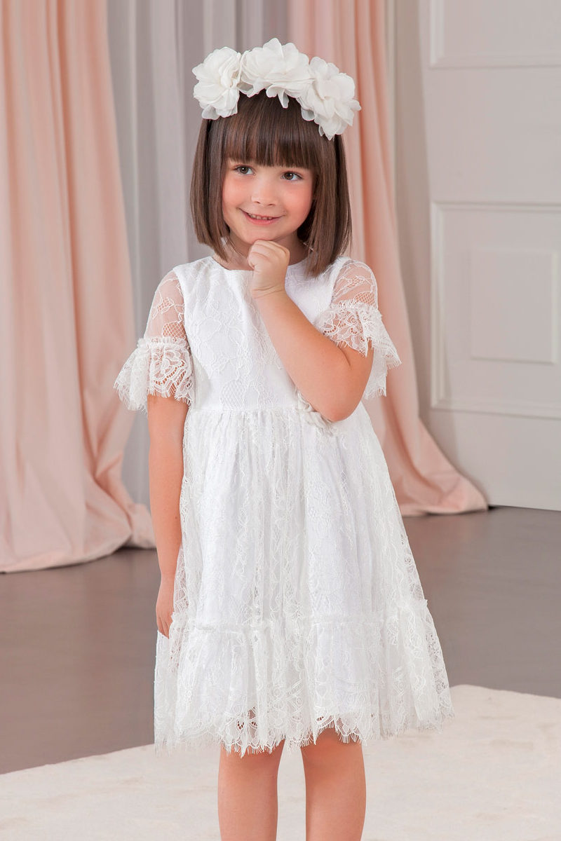 carmens designs girls fine lace satin poplin and batista lining dress for special occasions