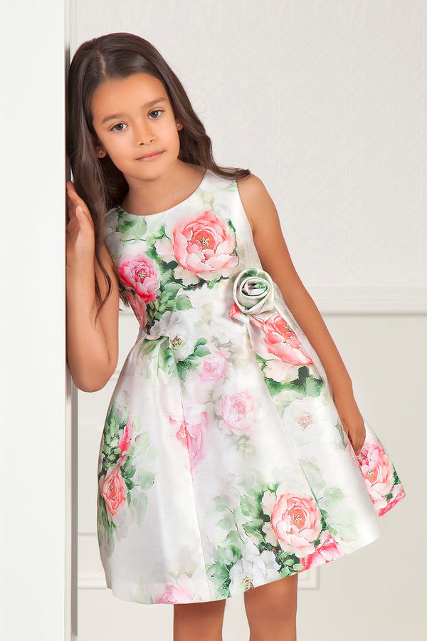 carmens designs formal wear girls printed mikado flower dress