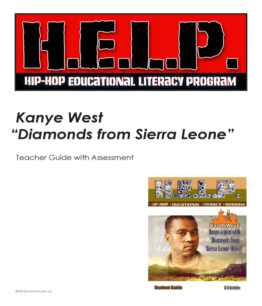 "H.E.L.P. SG, TG Combo — Kanye West w/ Jay Z — ""Diamonds From Sierra Leone"""