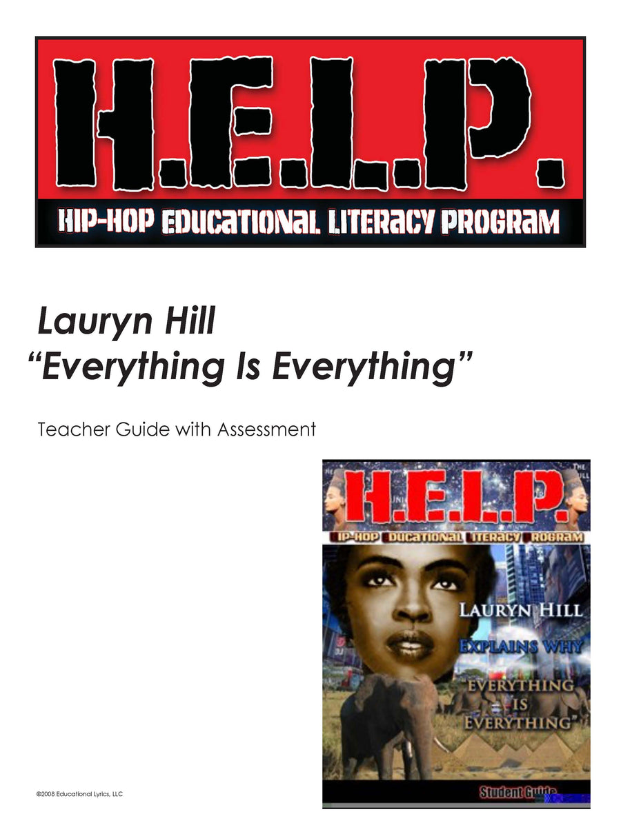 "H.E.L.P. Teacher Guide — Lauryn Hill — ""Everything is Everything"""