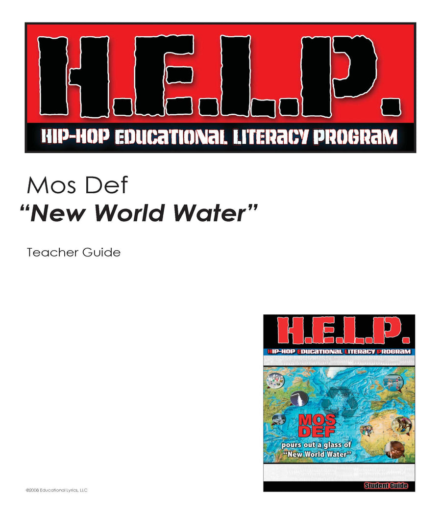 "H.E.L.P. SG, TG Combo — Mos Def (Yasiin Bey) ""New World Water"""