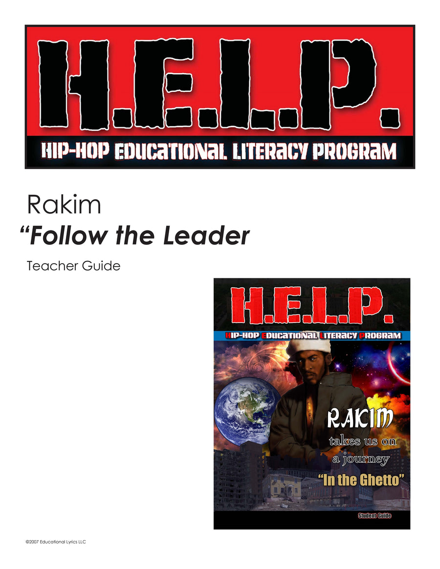 "H.E.L.P. Teacher Guide — Rakim — ""The Ghetto"""
