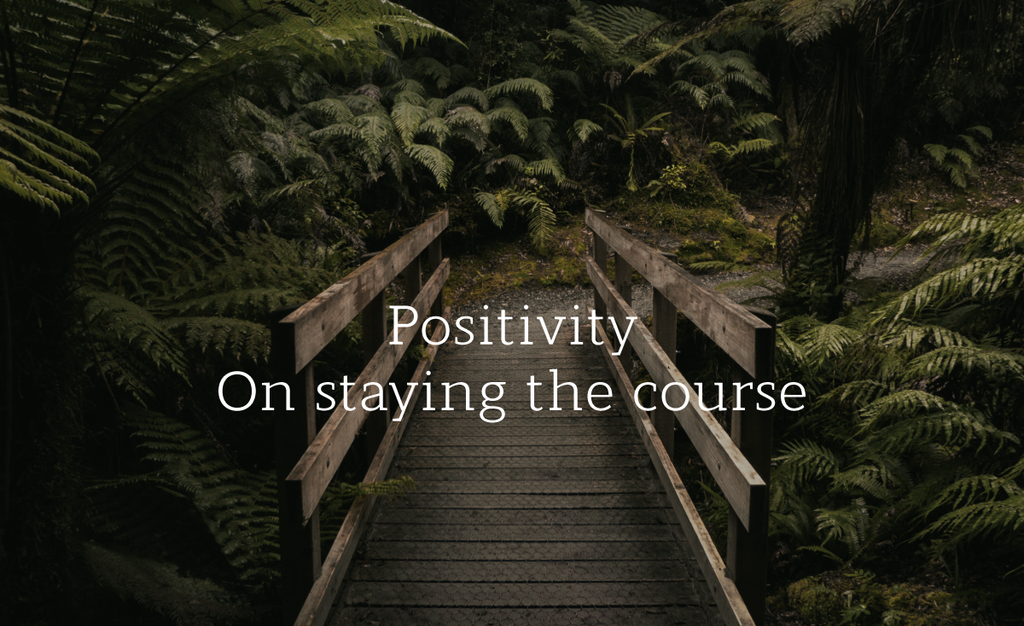 Positivity- On Staying the Course