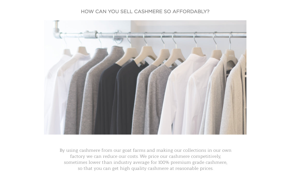 How can you sell cashmere so affordably