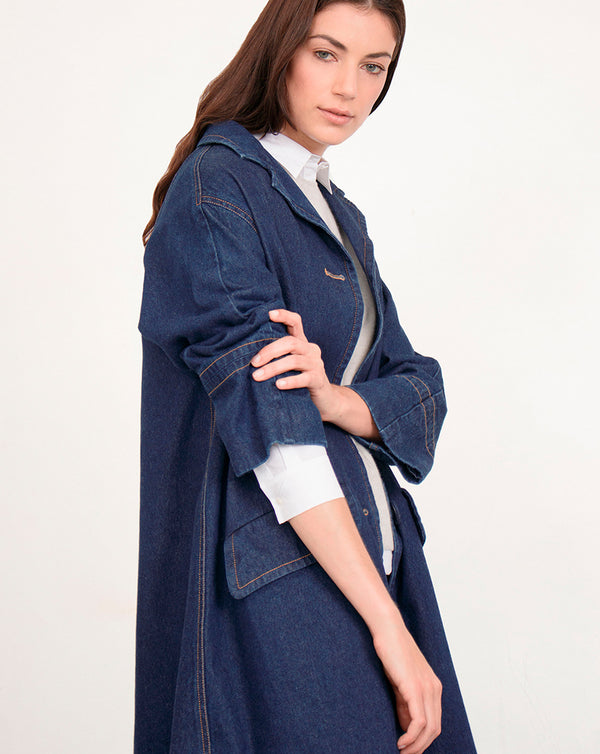 Sand Denim Coat