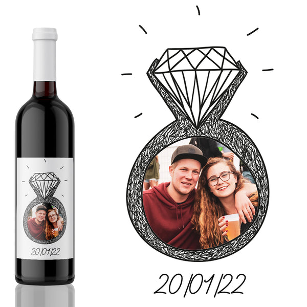 Save the Date Engaged! Engagement Wine Label Gift