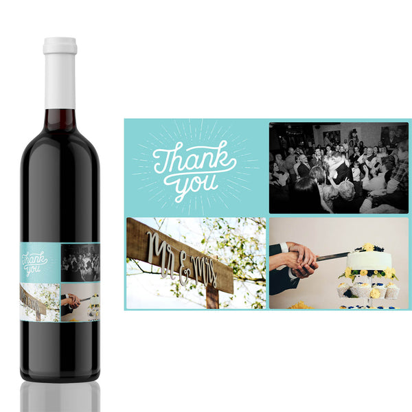 Photo Collage Thank You Celebration Label