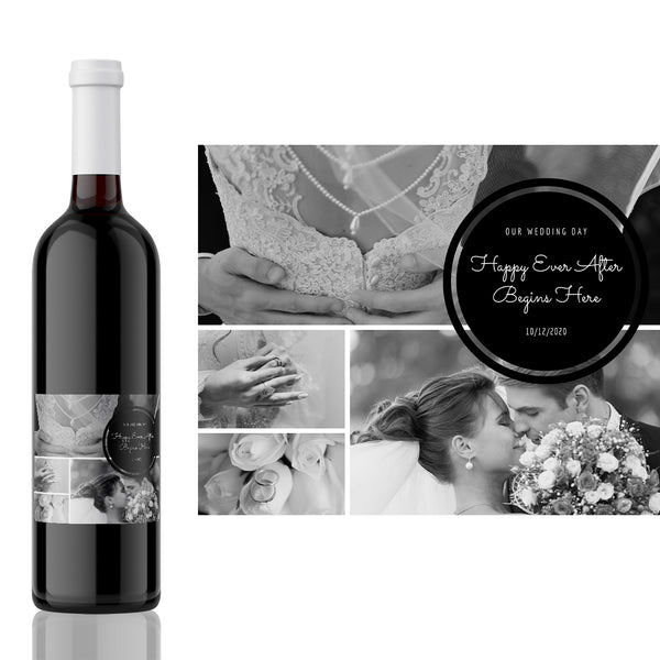 Wedding Photo Wine Label Gift - Celebrate your big day with a lasting memento