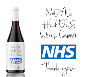 Thank you Heroes of the NHS wine label - (10% of all sales will be donated to the NHS charity fund)