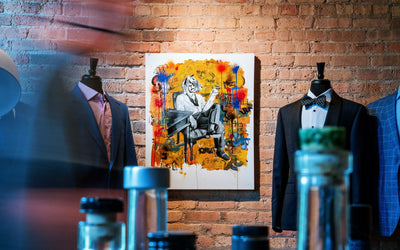 Custom Clothier: Stitch & Heart Collabs with Chicago artist, Mark Cesarik