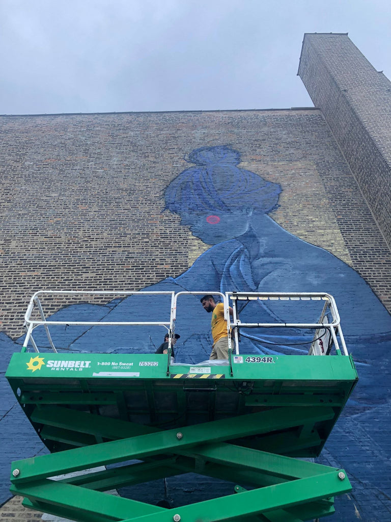 Chicago artist Rawooh and Afeks collaborate on the largest mural in Pilsen Chicago