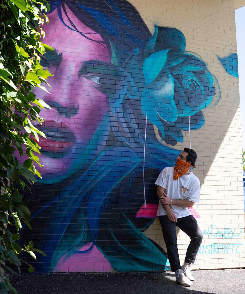 Interactive Mural by Chicago artist Rawooh located Las Fuentes in Morton Grove, IL