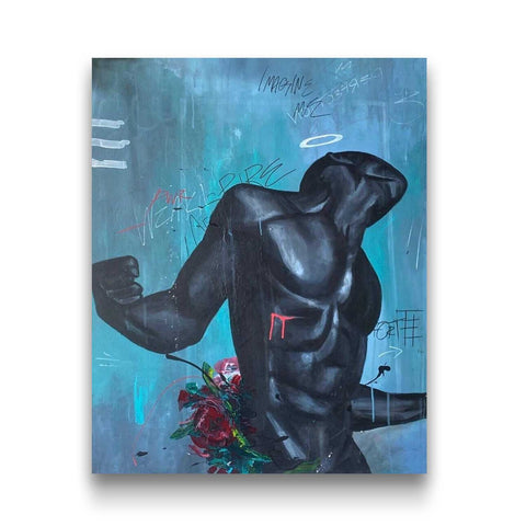 """Reborn King"" presented by Artist Replete in collaboration with Chicago artist Dwight White"