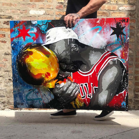 Last Dance 91 - Chicago artist Trip One - Online art gallery Chicago - Michael Jordan - Bulls Artwork