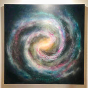 Our Home - Space art by Wij - Phoenix Az artist - Wij - Galaxy art - Buy art online - Wij art