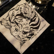 Rawooh - Napkin Commission - Chicago artist  -Rawooh - chicago gallery online