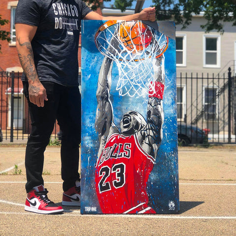 Trip One - Chicago Bulls Artwork - Michael Jordan artwork - Chicago art gallery