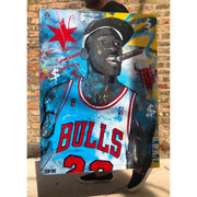 Victory Smoke - Chicago artist Trip One - Last Dance Michael Jordan art