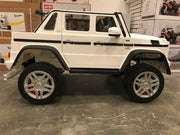 accu auto kind Mercedes G650 maybach twee persoons wit